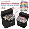 Touchnew30 36 40 48 60 72 80Colors Student Marker Set Dual Head Oily Alcoholic Sketch Marker