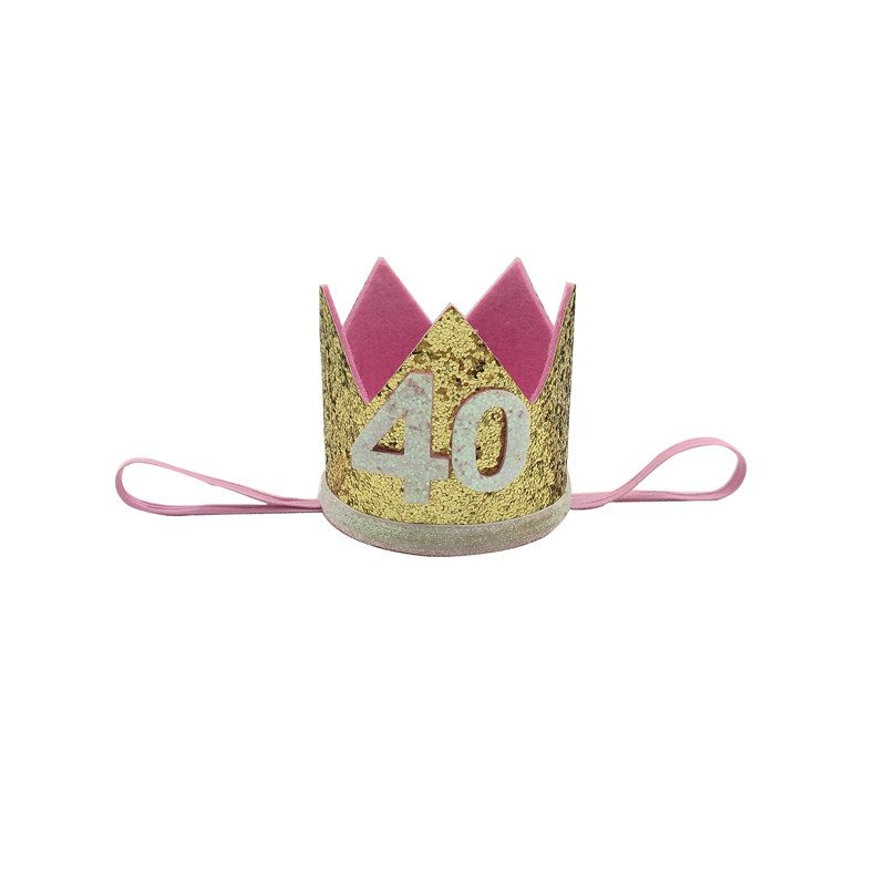 Chicinlife 1Pcs 30 40 50 60th Birthday Adult Party Hat Headband Crown Hairband Gift Her Photo