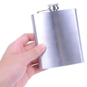 Stainless Steel Hip Flask Liquor Whiskey Alcohol Pocket Wine Bottle 7 oz 200ml