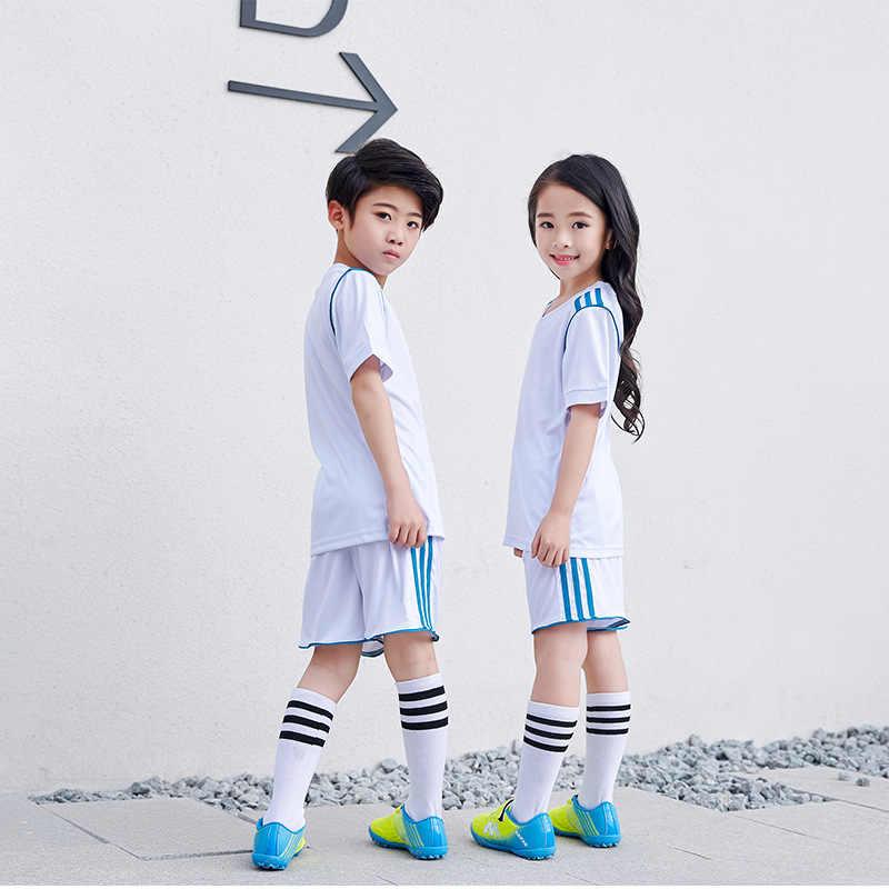 235ef6645bc4 ... Футбольная Одежда для девочек обувь для мальчиков 2018 майки дети  быстросохнущая спортивная форма школьников Training одежда ...