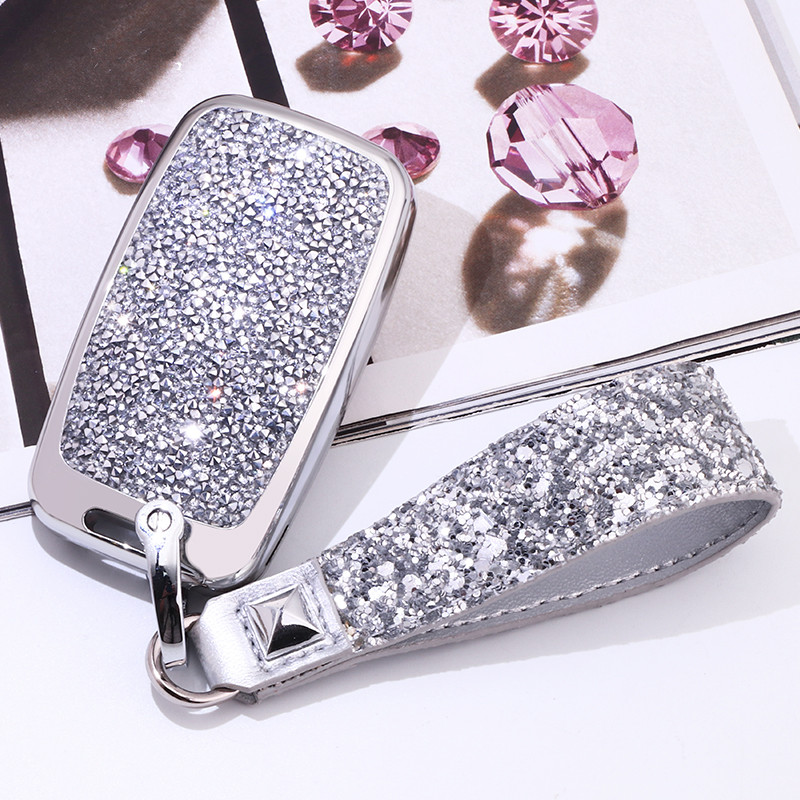 Image 3 - Artificial Crystal key case cover Key case protect shell holder For Land Rover A9 Range Rover Sport Evoque Freelander 2 Jaguar-in Key Case for Car from Automobiles & Motorcycles