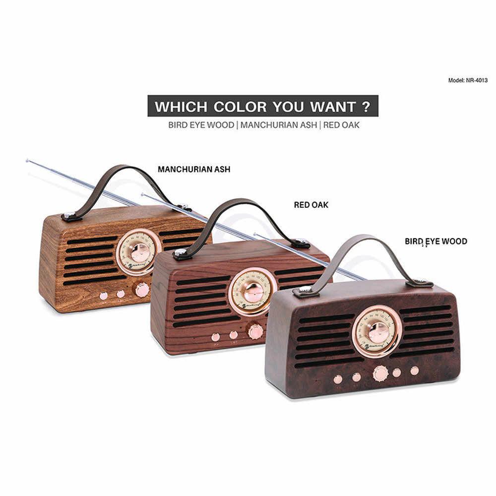 レトロなヴィンテージラジオスーパー低音 FM ラジオマルチメディアスピーカー古典的な受信機 Usb MP3 プレーヤーサブウーファーの bluetooth スピーカー