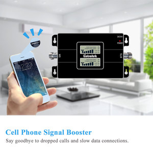 Image 2 - Lintratek NEW Dual LCD Displays 3G GSM Cellular Signal Repeater 900MHz UMTS 2100MHz 2G 3G Dual Band Cell Phone Signal Booster