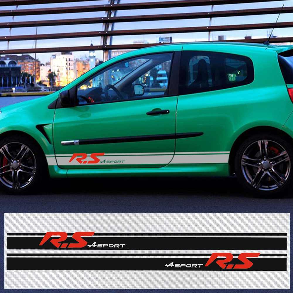 Renault Sport: Car Styling Racing Side Stripe Skirt Decal Body SPORT Car