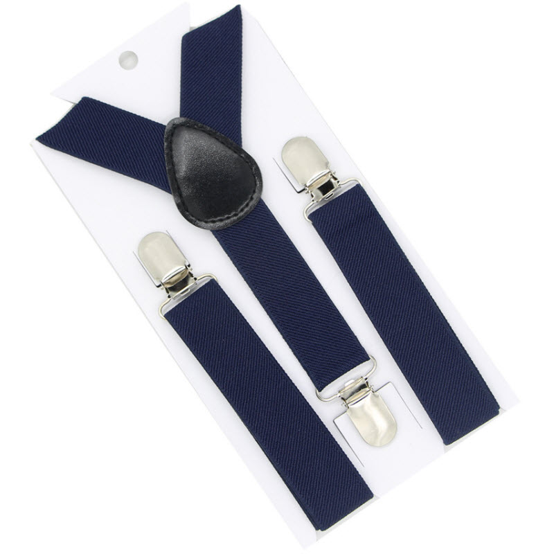 Quality Boys and Girls Clip-on Elastic Braces Stainless Kids Baby Suspenders Children Clothes Accessories, S 2.5x65cm(China)