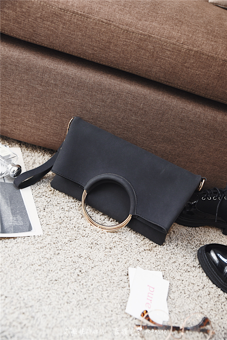 Casual Women Tote Bag 2 Pcs Set Folding Envelope Clutches Faux Suede Shoulder Bag Lady Hand Bag Black Red Shopper Handbag Purses 13