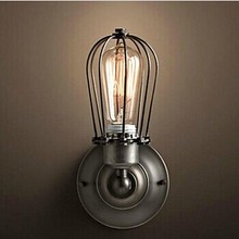 цена на E27 Retro Loft Style Industrial Vintage Wall Light Lamp With 1 Light,Bulb Included, Edison Wall Sconce American Country Style