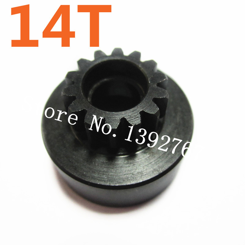HSP 1/8 Scale Models Spare Parts 81039 Metal Clutch Bell (14T) Accessories For RC Car Nitro Power Off Road Buggy Monster Truck 02023 clutch bell double gears 19t 24t for rc hsp 1 10th 4wd on road off road car truck silver