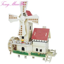 3 D Diy Wool Puzzle Model House Child Intelligence Puzzle Toy Combination Of Girl Handmade Assembling Multicolour