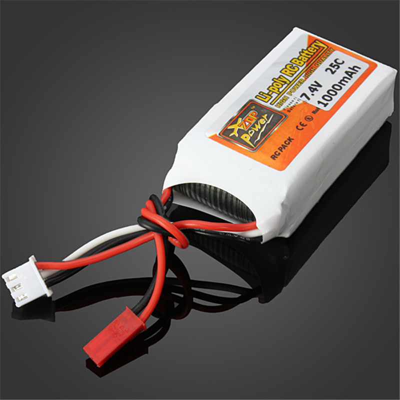 2018 Rechargeable ZOP Power 7 4V 1000mAh 2S 25C Lipo Battery JST Plug Connector for RC Drone FPV Quadcopter DIY Toys Spare Parts in Drone Batterys from Consumer Electronics