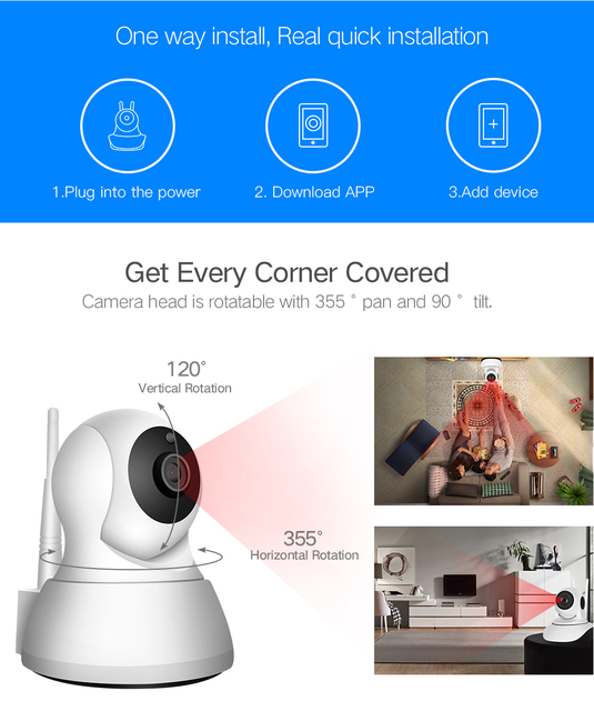 Sdeter home security ip camera wi-