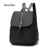 NEVENKA Women Backpack Female PU Leather Shoulder Bag Casual Soild Embossing Backpacks For Teenager Girl Preppy