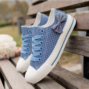 Women sneakers 2013 womens casual canvas shoes women bow ...