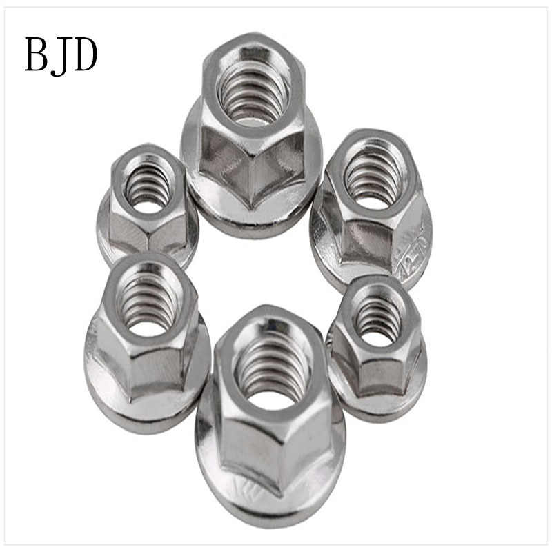 200pcs 100PCS DIN6923 M3 3mm nut stainless steel