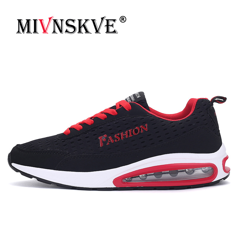 MIVNSKVE 2018 New Trend Running Shoes Mens Sneakers Breathable Air Mesh Shoes Eva Athletic Sapatos Women Sport Runing Shoes