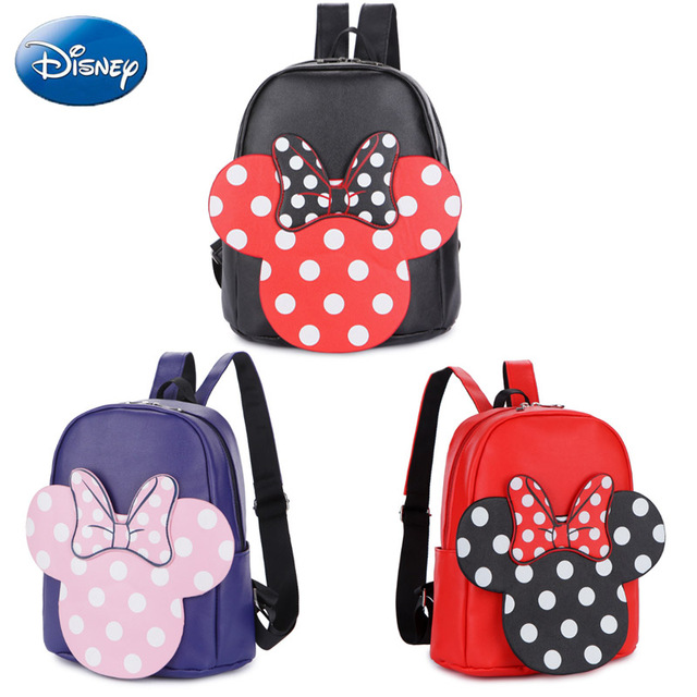 6d9158cf7173 Disney Mickey Minnie Mouse Bag Children Girls School Bag Cute Kids Backpacks  Polyester Cartoon Bags Lovely Kindergarten Doll s