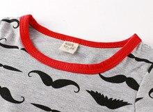 Newborn moustache printed baby boy romper