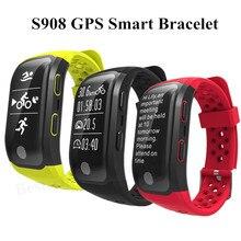2017 новые S908 GPS Smart Band Bluetooth 4.2 сердечного ритма IP68 Водонепроницаемый Sleep Monitor Шагомер умный Браслет для iOS и Android