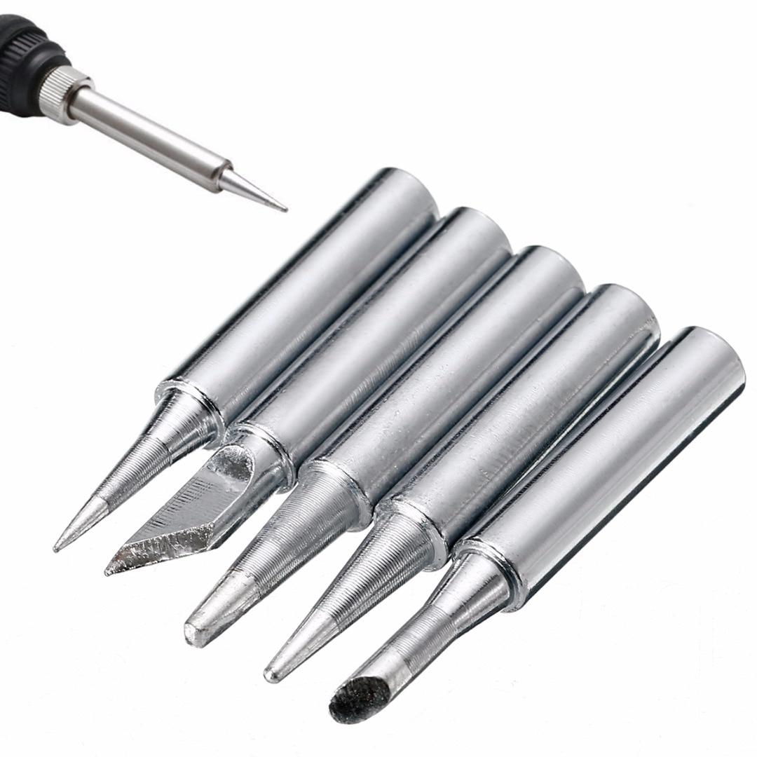 5pcs-metal-900m-t-soldering-iron-tips-set-42mm-for-hakko-solder-rework-repair-tools