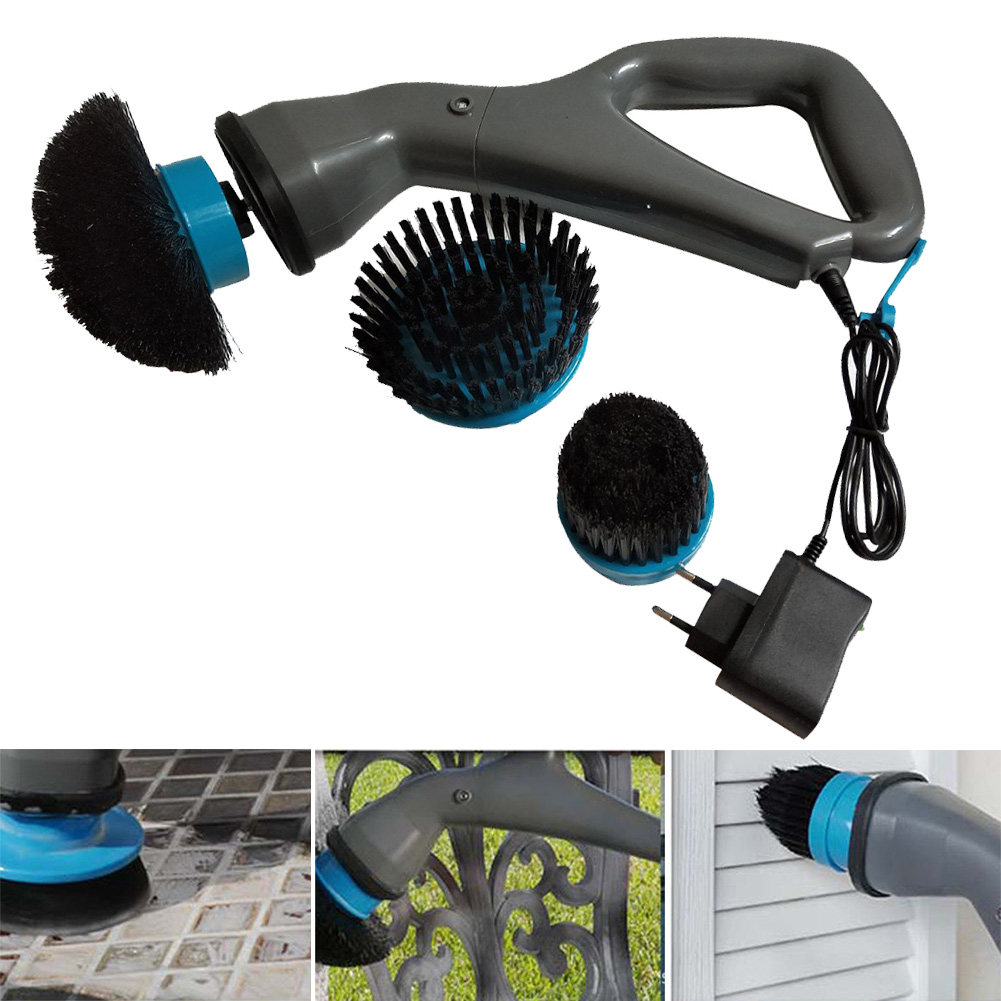 Cleaning Tools Cleaning Brush Electrical Lightweight Hurricane Muscle Scrubber Cordless Plastic Multi Functional Household #2