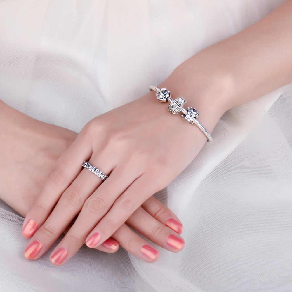 Jewelrypalace 925 Sterling Silver Jaket Manik-manik Hiasan Perak 925 Asli Fit Gelang Perak 925 Asli Perhiasan untuk Wanita