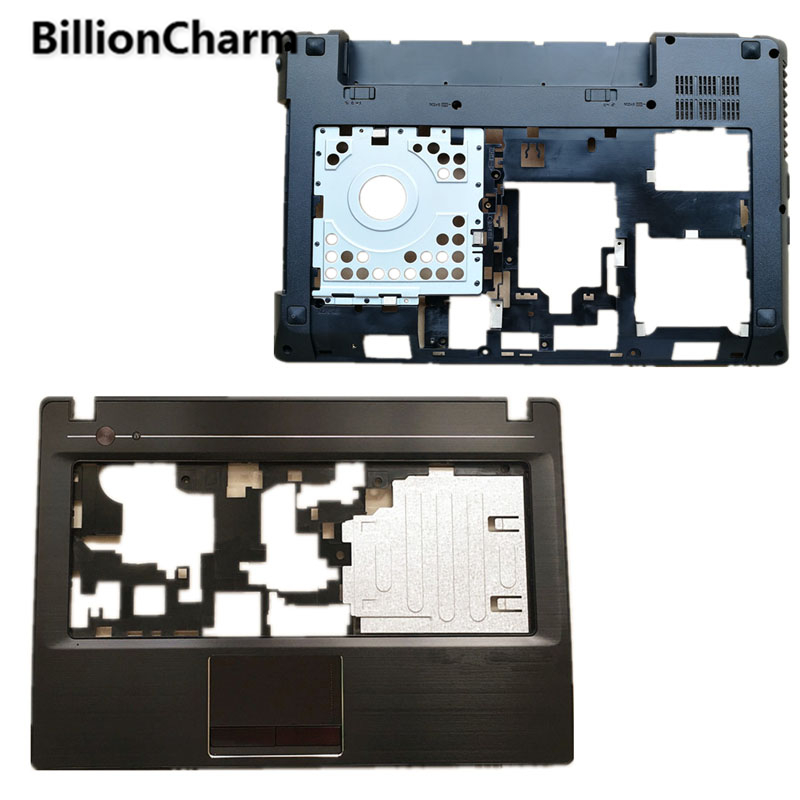BillionCharm New For <font><b>Lenovo</b></font> <font><b>G480</b></font> G485 Top Cover Palmrest Upper <font><b>Case</b></font>+Bottom Base Cover <font><b>Case</b></font> Without HDMI image