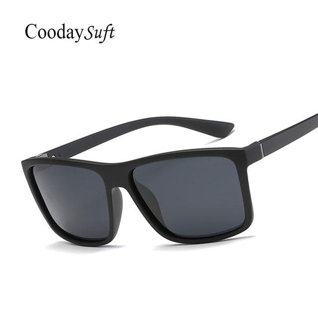 Polarisées Carré Hommes Marque De Mode Designer lunettes de Soleil Miroir  De Voiture Conduite Pêche Pour f77902b1904b