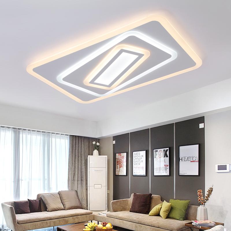 Platz Surface Mounted Moderne Kronleuchter Fr Wohnzimmer Leuchte Indoor Hause Dekorative Lampenschirm Acryl Licht