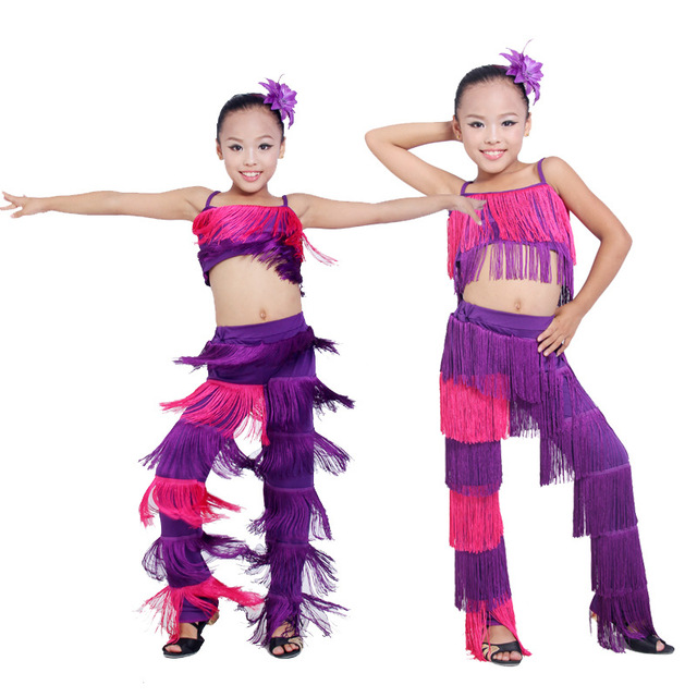 110 Danza De Chica Cm La Latina Baile Franja Pantalones 160 qpHTqxf4