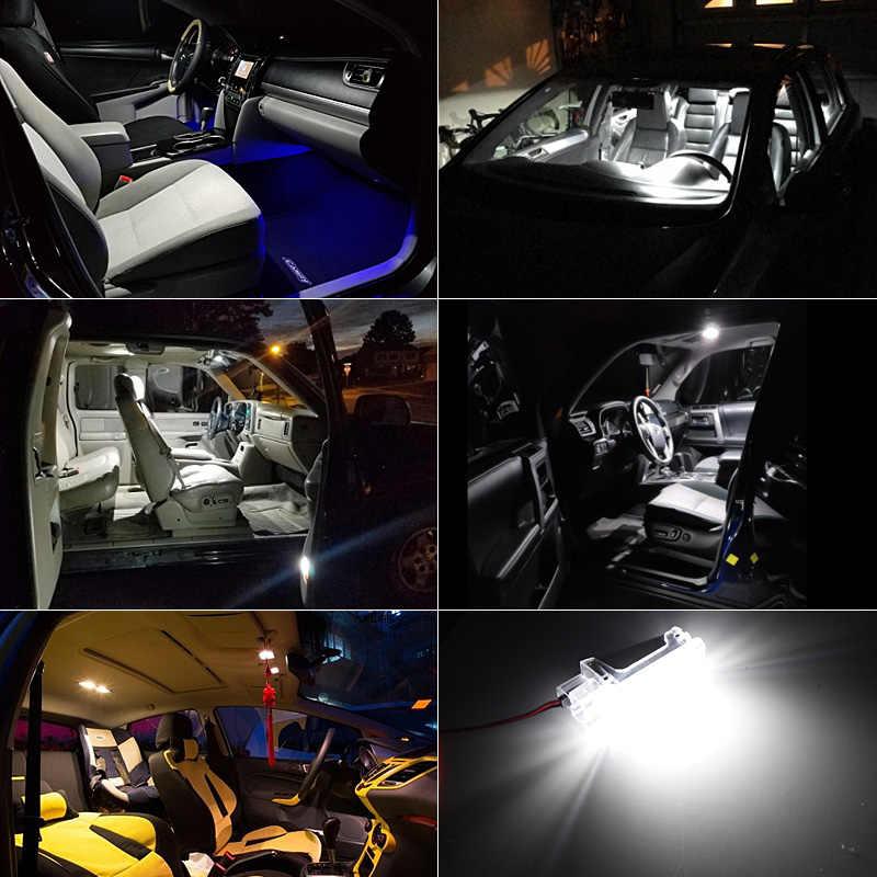 2pcs ข้อผิดพลาดฟรี LED มารยาทถุงมือกล่องภายใต้ประตูเท้าสำหรับ VW Touareg Tiguan EOS Passat SKODA SUPERB 2016-3 V สีขาว @ 12V