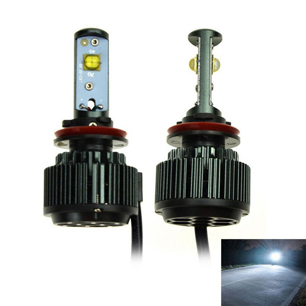 Super Bright H8 H9 H11 H16JP LED Car Headlight Bulbs All-in-One Conversion Kit 7200Lm 60W 6000K Fog DRL Daytime Light White super bright h7 p7 led car headlight conversion kit fog lamp bulb drl 60w 9000lm 6000k 10v 30v dc wholesale d20