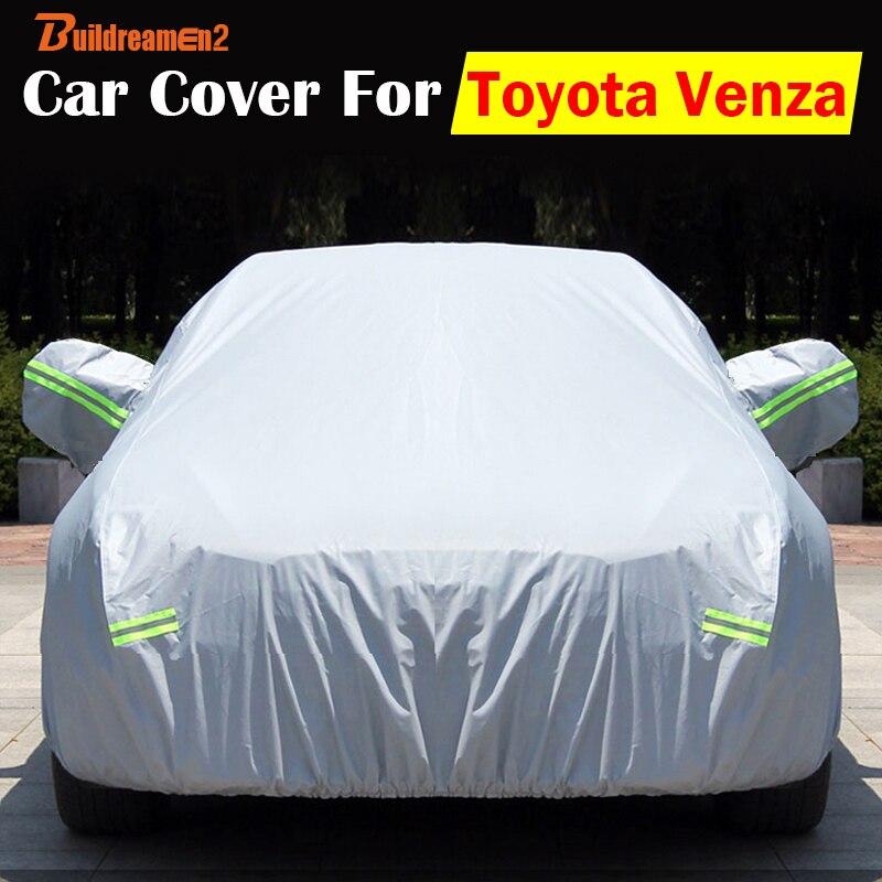 Buildreamen2 SUV Couverture Auto UV Anti-rayures Neige Pluie Pare-Soleil Résistant À La Poussière Résistant Aux bâche de voiture Étanche Pour Toyota Venza