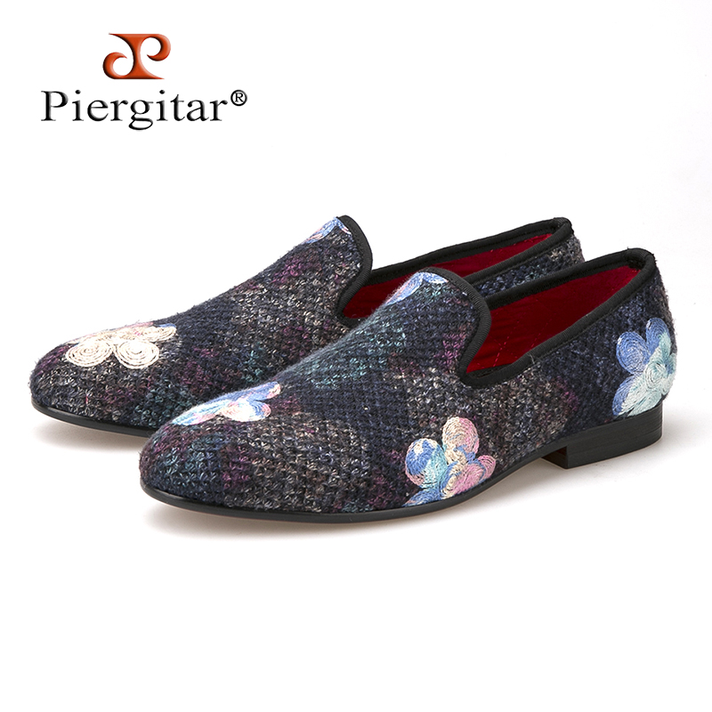 New mixed color knitted fabric men shoes with printing flower wedding and party men loafers fashion ethnic style mens flatsNew mixed color knitted fabric men shoes with printing flower wedding and party men loafers fashion ethnic style mens flats