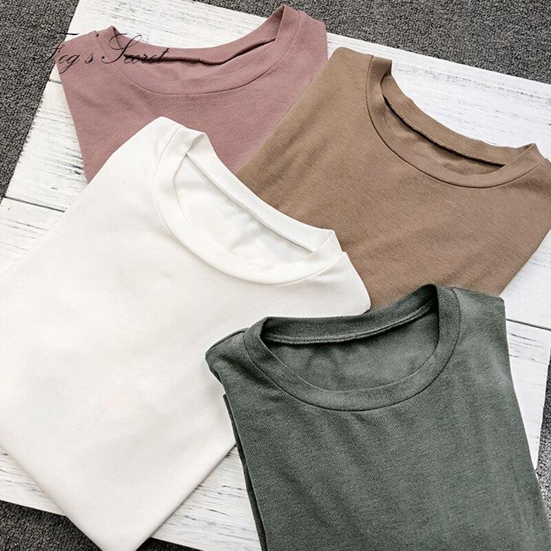 T shirt Pour femme Simple Blanc confortable sens sauvage Lâche Grand Grande Taille Tops Pour Femmes Fille 2018 printemps été