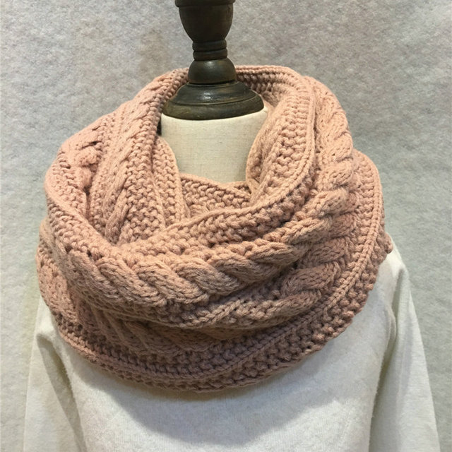 Aliexpress Buy New Winter Cable Knitted Infinity Scarf Unisex