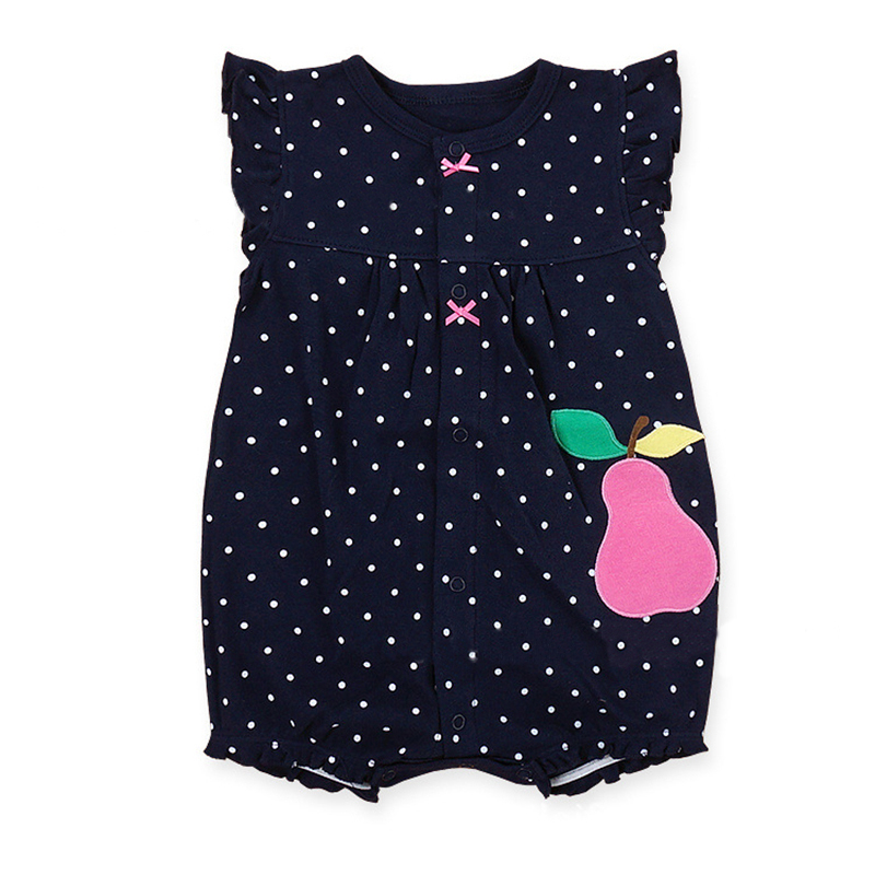Cotton Baby Rompers Summer Baby Girl Clothes Cartoon Noworodek - Odzież dla niemowląt - Zdjęcie 3