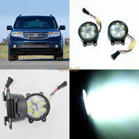 July King 18W 6LEDs H11 LED Fog Lamp Assembly Case for Honda Pilot 2012~2015, 6500K 1260LM LED Daytime Running Lights