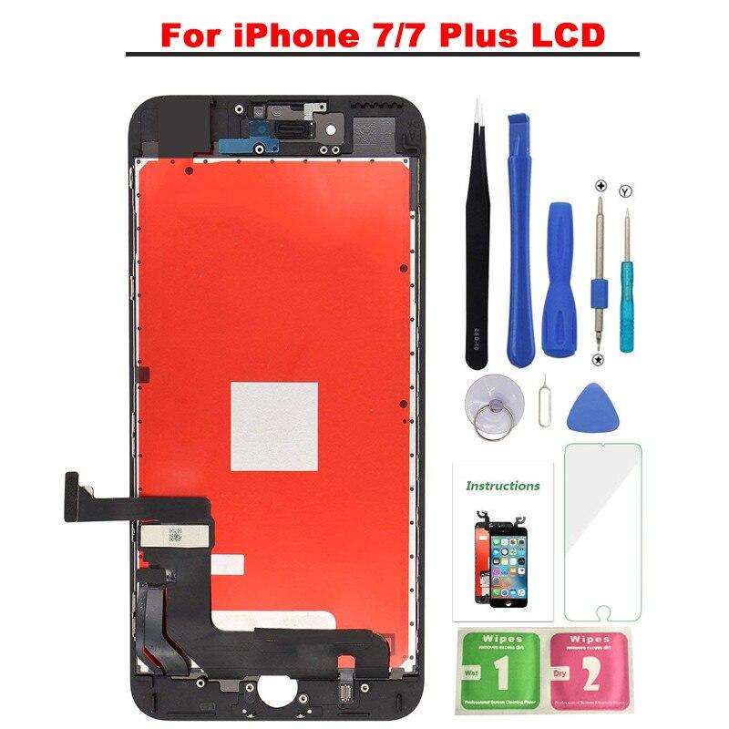 Meilleur AAA + + Qualité LCD Pour iphone 7 7 PLUS Écran lcd Écran Tactile Assemblée Remplacement Pour iphone 7 iphone 7 plus Avec Cadeau Gratuit