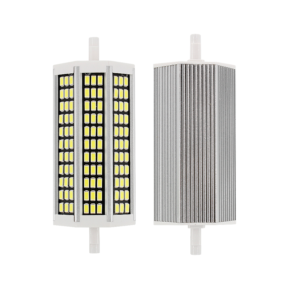 R7s super brilhante lâmpada led 36 81 99 162 leds 78mm 118mm 135mm 189mm ac220v smd 5733 5730 milho luz substituir halogênio r7s projector