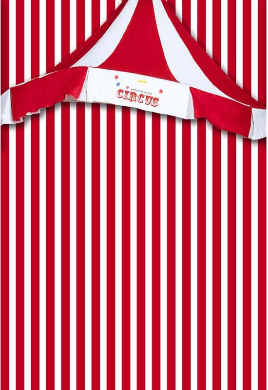 Red White Circus Banner Striped Backgrounds Polyester Or Vinyl Cloth High Quality Computer Print Wall Backdrop In Background From Consumer Electronics On