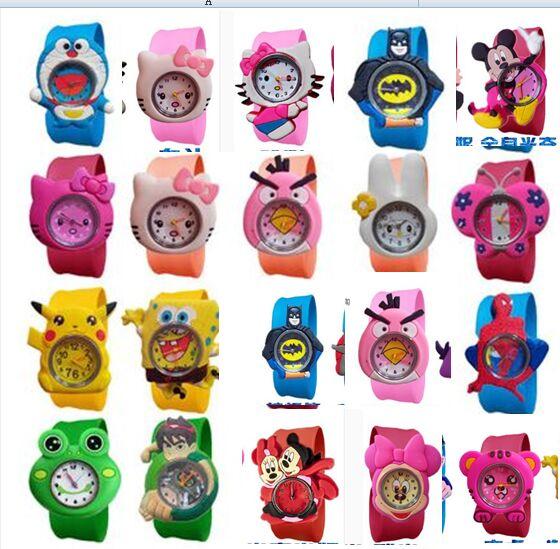 cute snail style slap on silicone wrist watch orange 1 x sr626 20style Fashion Cartoon Slap Watch Sports Brand Cartoon Slap Wrist Watch For Children Hot Sale Baby Gift Quartz Watch