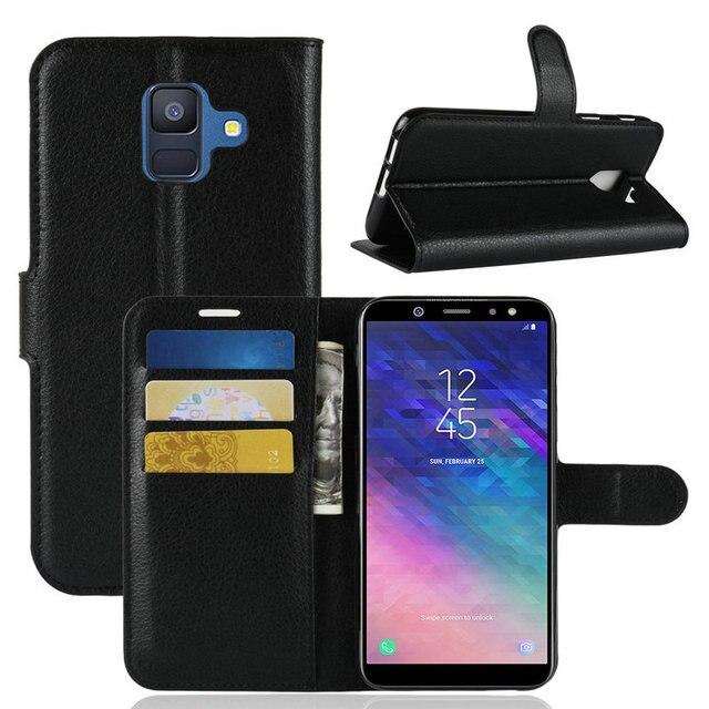 wholesale dealer f1dd0 aba7b US $3.42 30% OFF|for Samsung Galaxy A6 2018 A600F Wallet Phone Case for  Samsung Galaxy A6+ A6 plus 2018 A605G Flip Leather Cover Case Etui  Fundas-in ...