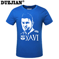 DUZJIAN World Cup Xavier Hernandez Creus men's T-shirt man t shirt summer 2016 child bodybuilding t-shirt camisa masculina
