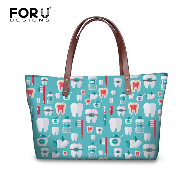 forudesigns dentist printed handbags women luxury messenger bags vintage christmas bag gift pattern women large cross - Christmas Purses Handbags
