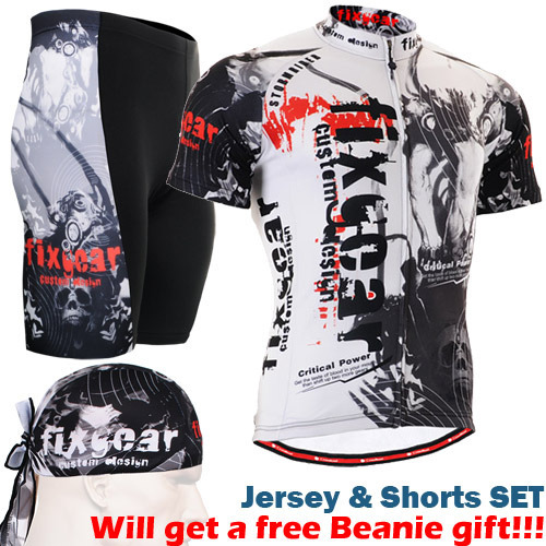 ФОТО Life on Track Men's Short Sleeve Jersey Set Cycling Short Set Bike Jersey Shirt Top Clothing And Shorts