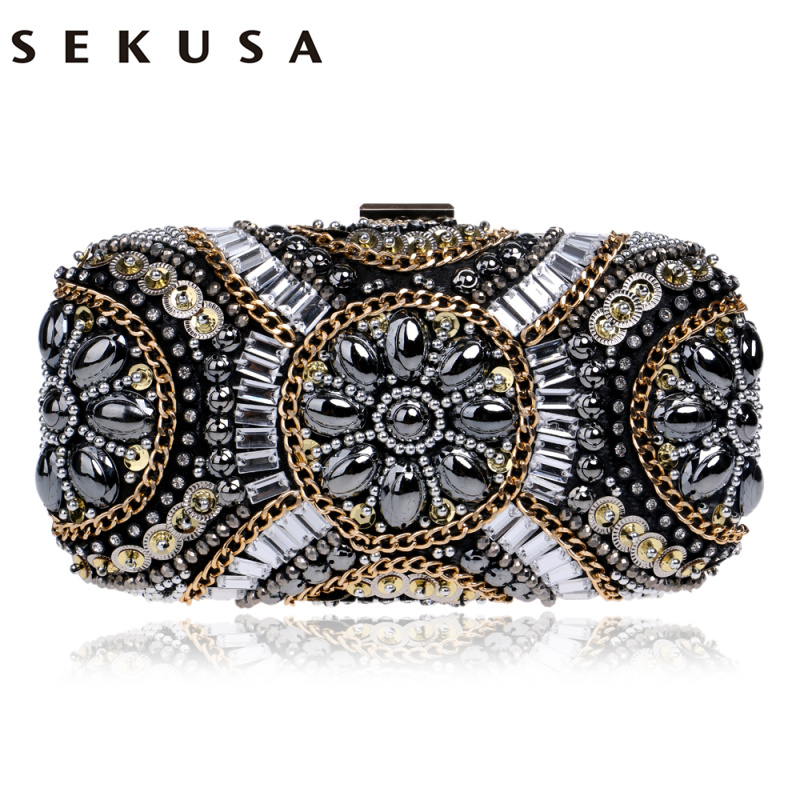 New LUXURY GEM Diamond Flower Crystal Evening Bag Clutch Bags Hot Styling Day Clutches Lady Wedding Purse Bolsa De Festa 695t new 2015 fashion women day clutches shiny red and black evening clutch handbag female bolsa feminina pequena lady purse hand bag
