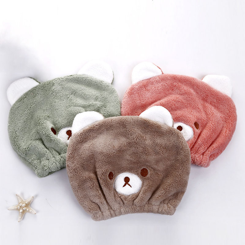 Strong Absorbing Dry Hair Hat Dry Hair Towel Cute Animal Bath Accessories Long - Velvet Ultra -Soft Children Supplies