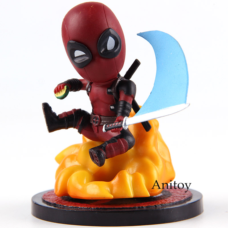 Action Figure Marvel Comics Deadpool Mini Egg Attack Series MEA-004 Deadpool Toys PVC Collectible Model Toy image