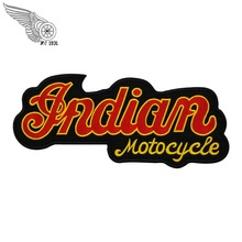 Indian Motorcycle Logo Embroidered Patches Full Chief Biker Back For MC Vest Jacket Chopper Motor Design