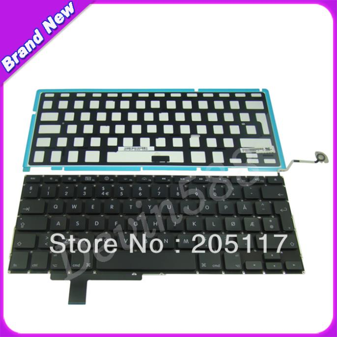 DANISH Keyboard with Backlight FOR Apple MacBook Pro A1297 17